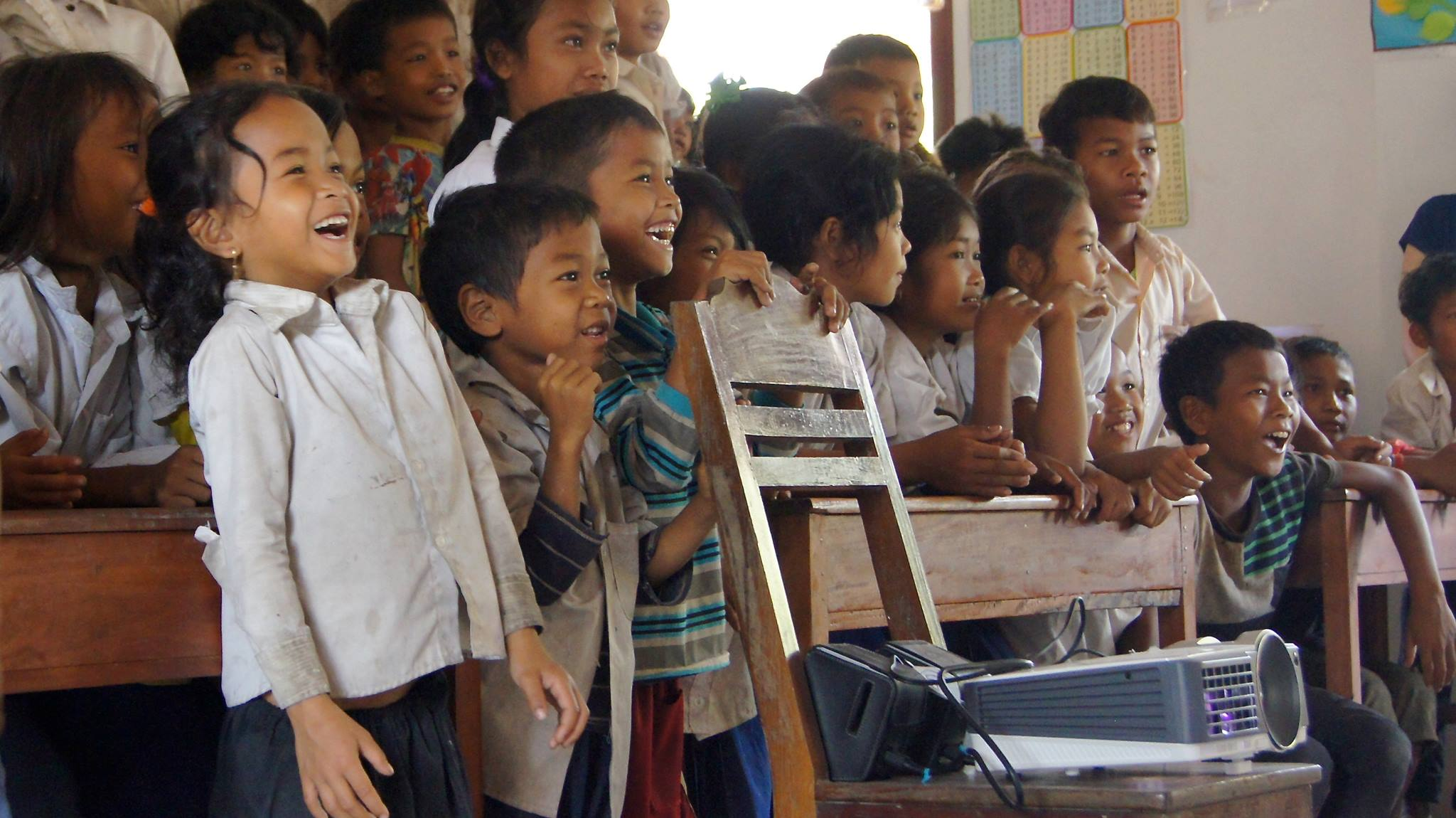 2014年3月リエンポン村小学校・撮影:五百蔵直樹